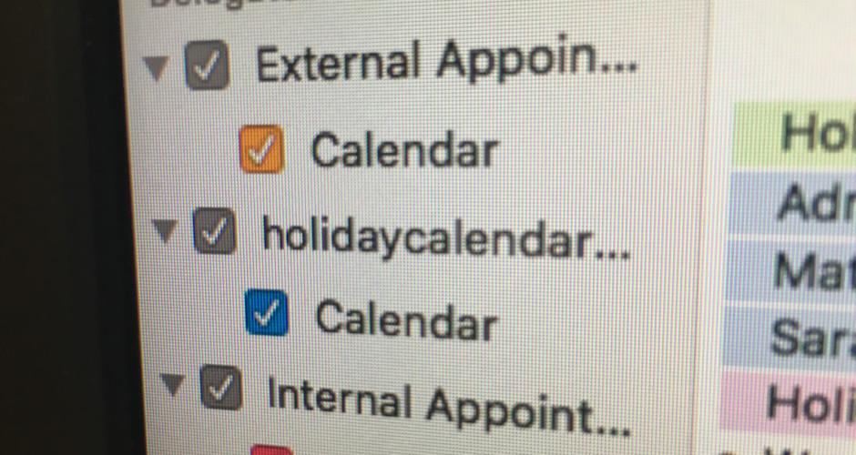 Delegated Calendars iCal